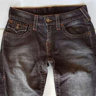 Vintage True Religion Jeans, Retro Old Corduroy Fashion, Rare True Religion Designer Jeans, World Tour, Original, USA, Street Smart Style, Hip Hop, Rock Star, Hipster, Seasoned Look, Collectibles, Rugged Wear