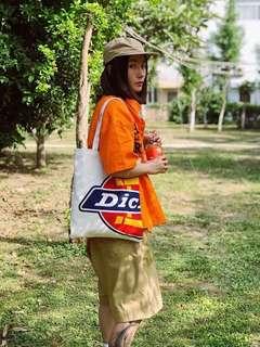 🚚 日系 Dickies帆布包環保經典大 LOGO印花 手提袋購物袋單肩托特包