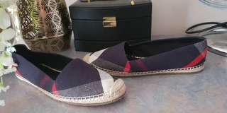 Authentic burberry espadrilles shoes