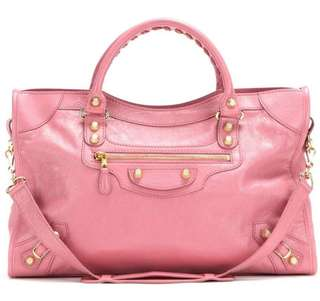 💖Balenciaga 38cm giant 12 city Bag in Pink with gold studs