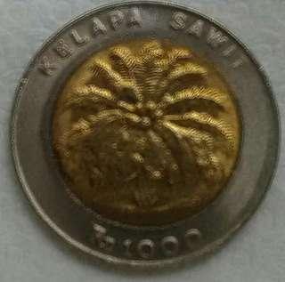 Uang koin bimetal 1000 rp kelapa sawit