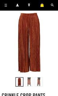 Orange high waist cropped culottes