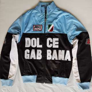 Vintage D&G Jacket, Retro Old Fashion, Rare Dolce & Gabbana Designer Jacket, Original Italy, Authentic, Racing Team, Biker Jacket, Street Smart Style, Hip Hop Fashion, Rugged Wear, Dolce Gabbana Tracksuites, Unorthodox Fashion, Unique, Collectibles