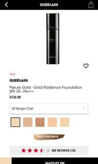 Guerlain Parure Gold Foundation shade02