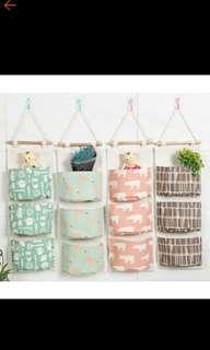 Pouch Gantung 3Sekat *Storage Bag Gantung* /Tempat Aksesoris