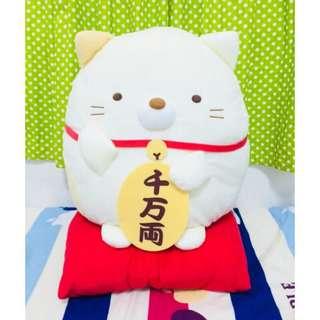 🚚 全新日本Toreba景品限定[現貨]正版 最新 新年限定 角落生物 招財貓 貓咪款 42公分大娃娃