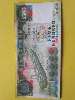 Old version S$500 Note