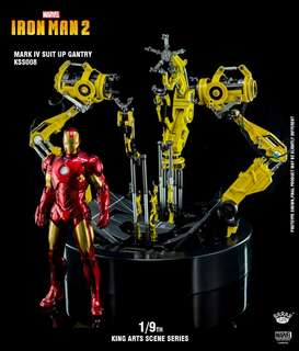 King Arts Suit-Up Gantry Plus Iron Man Mark 4