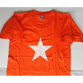 Vintage Tee Shirt, Retro Old Fashion, Rare Delta Designer T Shirt, Orange, Star Design, CCCP Style, Iconic, Street Smart Style, Hip Hop Fashion, Rugged Wear, Biker, Racer, Collectibles