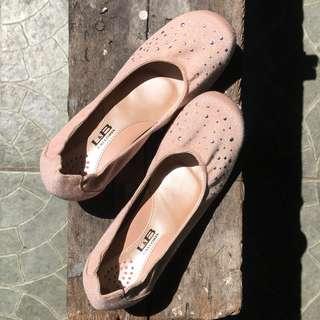 Blush Pink Studded Kitten Heels