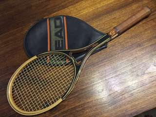 HEAD VILAS Vintage Wood Tennis Racket
