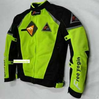 Instock - Motorbike - Mesh Neon Riding Jacket with Protective Paddings