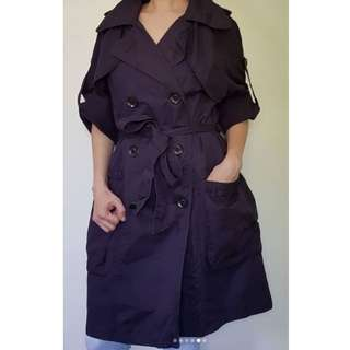 zunao_wearables🌹 Double-breasted trench 🌹 Navy blue