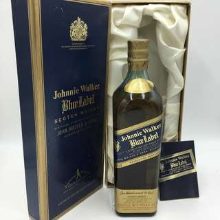 80年代,陳年左走Johnnie Walker Blue Label750ml with box.
