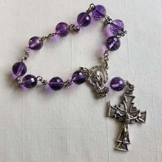 Amethyst Faceted Pocket Rosary