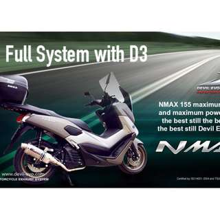 Devil Exhaust Systems Singapore Yamaha NMAX 155 ! Ready Stock ! Promo ! Do Not PM ! Kindly Call Us ! Kindly Follow Us !  Kindly Join Us As Members To Enjoy More Goodies !