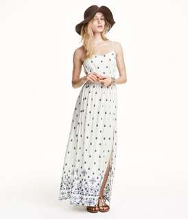 H&M Divided Airy Pattern Maxi Dress