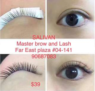Eyelash Extensions promo at $39