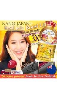 Nano Japan Royal Jelly 70s for Better Hair Growth and shine and Skin Radiance