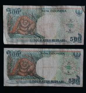 Indonesia Currency (1992) 2pcs (Self Collect @Blk 113 J.E. St. 13, 600113)