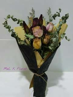 Dry Rose Flowers Bouquet