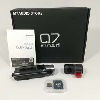 IROAD Q7 DVR RECORDER FRONT Full HD & REAR HD NIGHT VISION + 32GB Memory Card