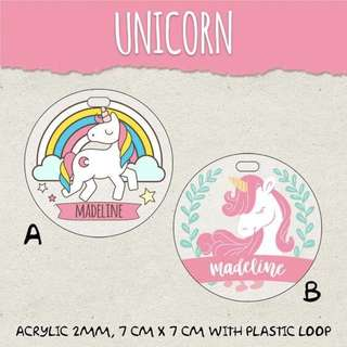 🚚 CUSTOM BAGTAG unicorn pony