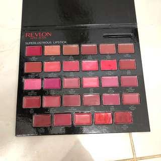 Revlon Lipstick All Colors Pallette    palet revlon lipstick