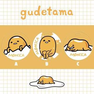 🚚 CUSTOM BAG TAG gudetama