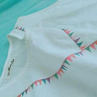 🚚 日系棉麻刺繡綁帶連身裙