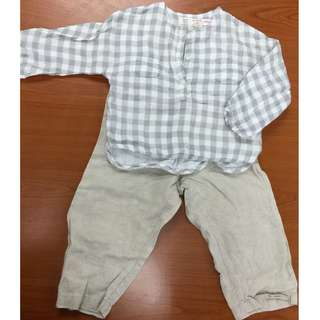 Zara Mini Top for Boys and Girls & Long Linen Pant