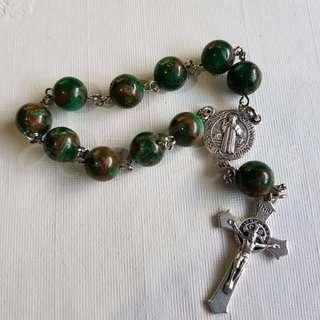 Emerald Pocket Rosary