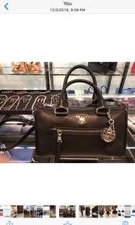 Prada 2 ways leather bag #8059593383238