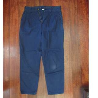 Uniqlo navy blue trousers