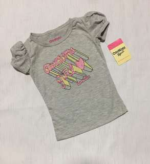 New! Oshkosh top for baby girl 6-12 mos