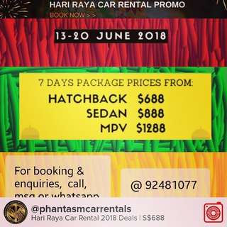 HARI RAYA RENTAL CAR DEALS