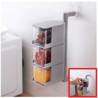 04429 Tripple Layer Rotatable Spice Storage