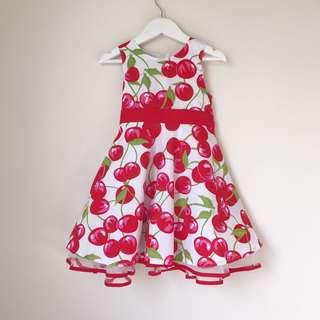 *NEW* Girls 🍒 printed dress size 3