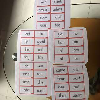 Sight Words Flash Cards (K level)