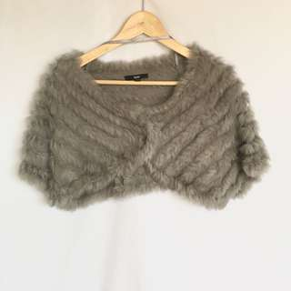 NEW Lounge the Label Sz S-M Fur Cape