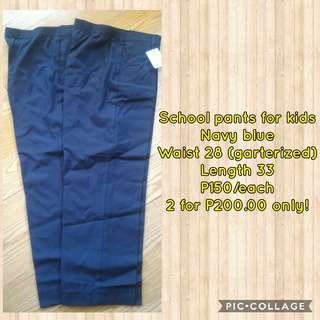 School pants for kids