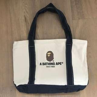 A Bathing Ape Canvas Shoulder Schoolbag Tote Bag
