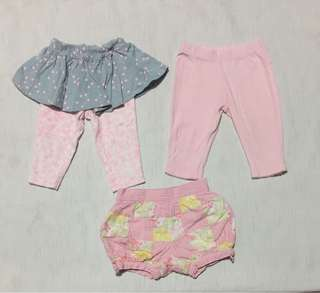 Baby girl leggings shorts 3-6mos