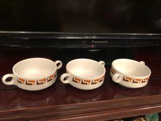 Mid century Royal Doulton Steelite Hotelware soup bowls