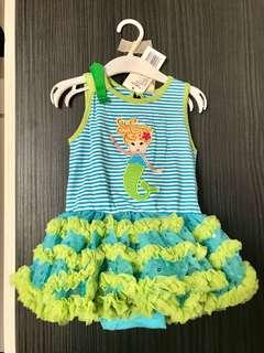 全新 美人魚包屁澎裙(90碼)嬰兒連身衣 爬服 兔裝,非背心 T恤 洋裝 外套