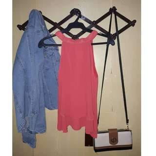 Chiffon Top (Orange)