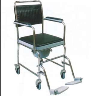 3-In-1 Commode Chair ( Seat, Toilet, Wheelchair)
