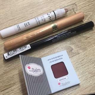 Assorted eye makeup