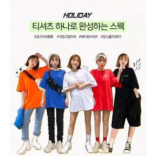 帥氣街頭風✨ 自製設計款 girls holiday tee ( CHUU 官網代購 ) 短袖 圓領 T恤 純棉 合身