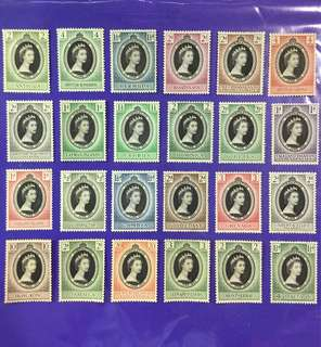 24 pcs 2nd June 1953 Coronation Queen Elizabeth II Mint Stamps